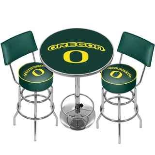 University of Oregon Game Room Combo- 2 Stools w/Back & Table