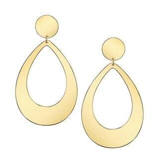 Yellow Brass Elegant Women's Hoop Earrings