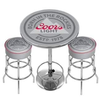 Budweiser Label Game Room Combo 2 Bar Stools And Table