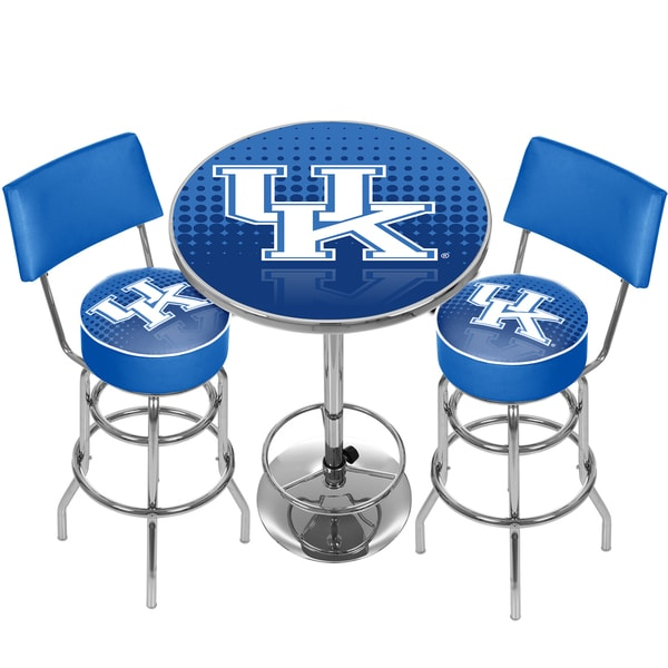 University of Kentucky Game Room Combo - 2 Stools w/Back & Table