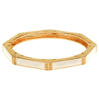 Ladies' Multi-sided Brass Bangle Bracelet