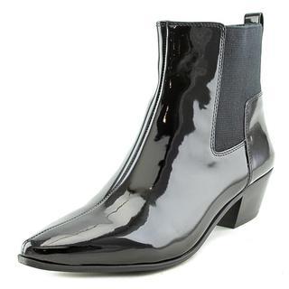 Nine West Women's Travers Black Patent Leather Boots