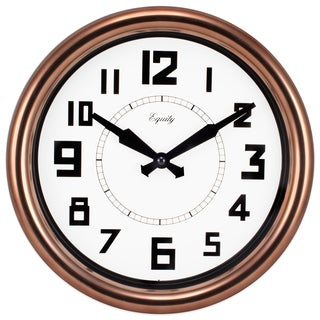 Lacrosse Technology Equity 20821 Copper 12-inch Analog Wall Clock