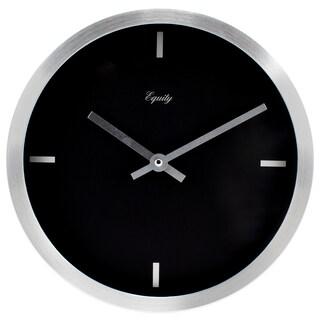 Equity by La Crosse 20776 10 Inch Brushed Aluminum Quartz Wall Clock