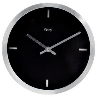 Equity by La Crosse 20776 10 Inch Brushed Aluminum Quartz Wall Clock