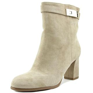 Nine West Women's Intimidate Tan Leather Ankle Boots