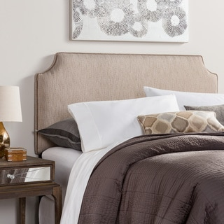 Humble + Haute Raleigh Queen Size Textured Grey Velvet Corded Upholstered Headboard