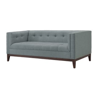 Angelo Home Sutton Mid Century Black Stripe Loveseat Free Shipping Today