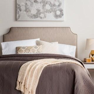 Humble + Haute Raleigh King Size Textured Grey Velvet Corded Upholstered Headboard