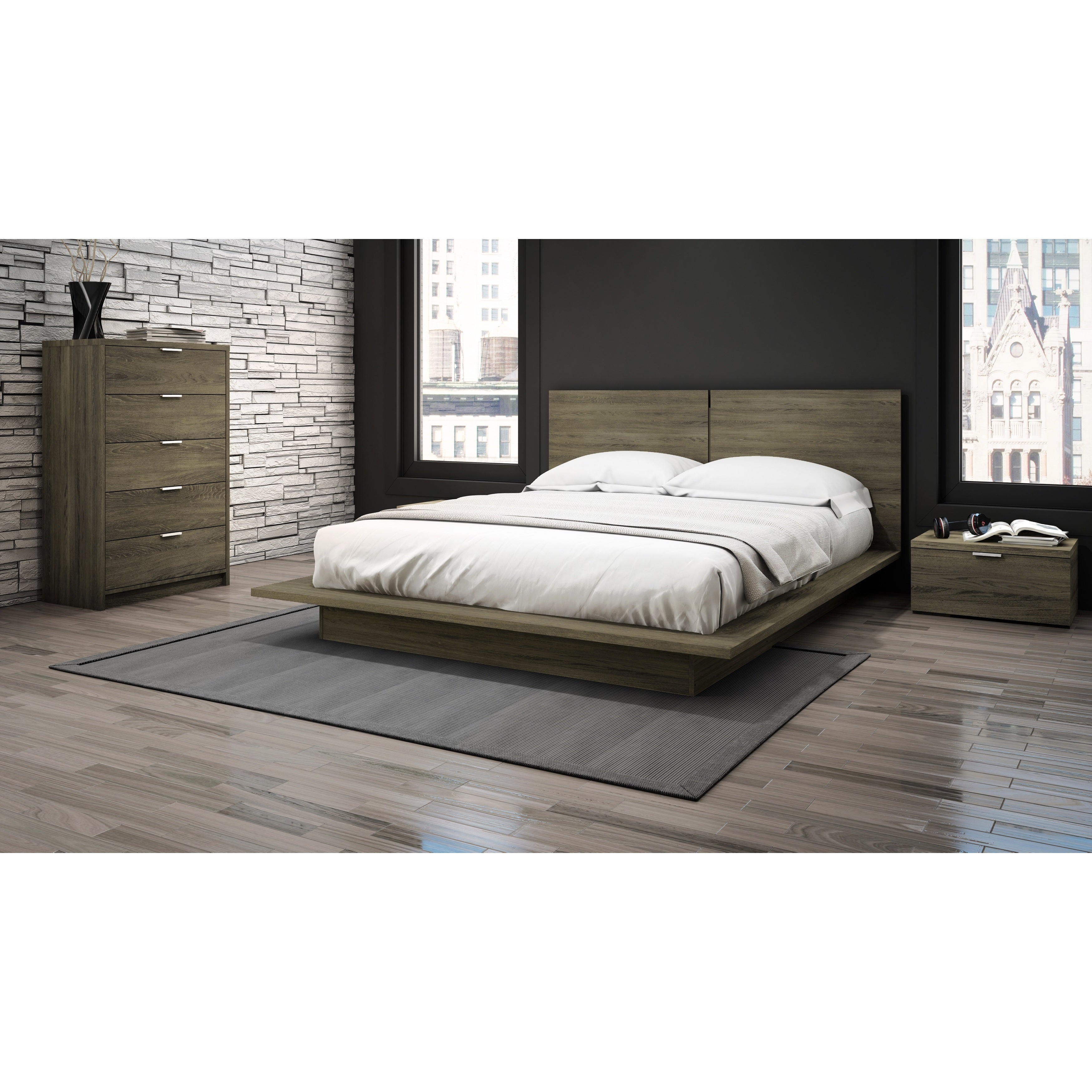Stellar Home Furniture Low Profile Nightstand
