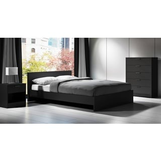 Euro Queen Laminate Platform Bed and Headboard