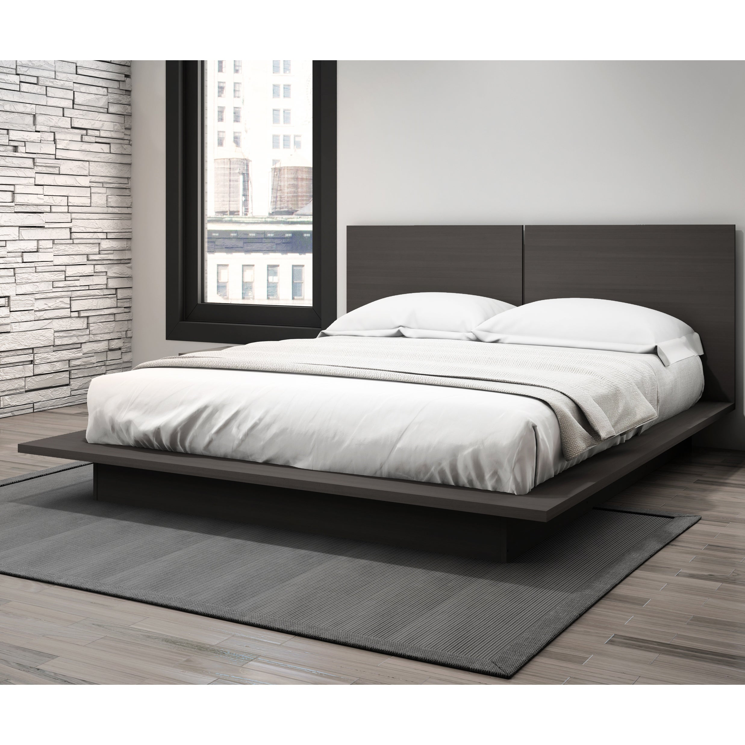 Help. Stellar Home Furniture Modena Queen Platform Bed Charcoal Gray   eBay