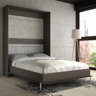 Stellar Home Storage Armoire in Wood Dark Charcoal