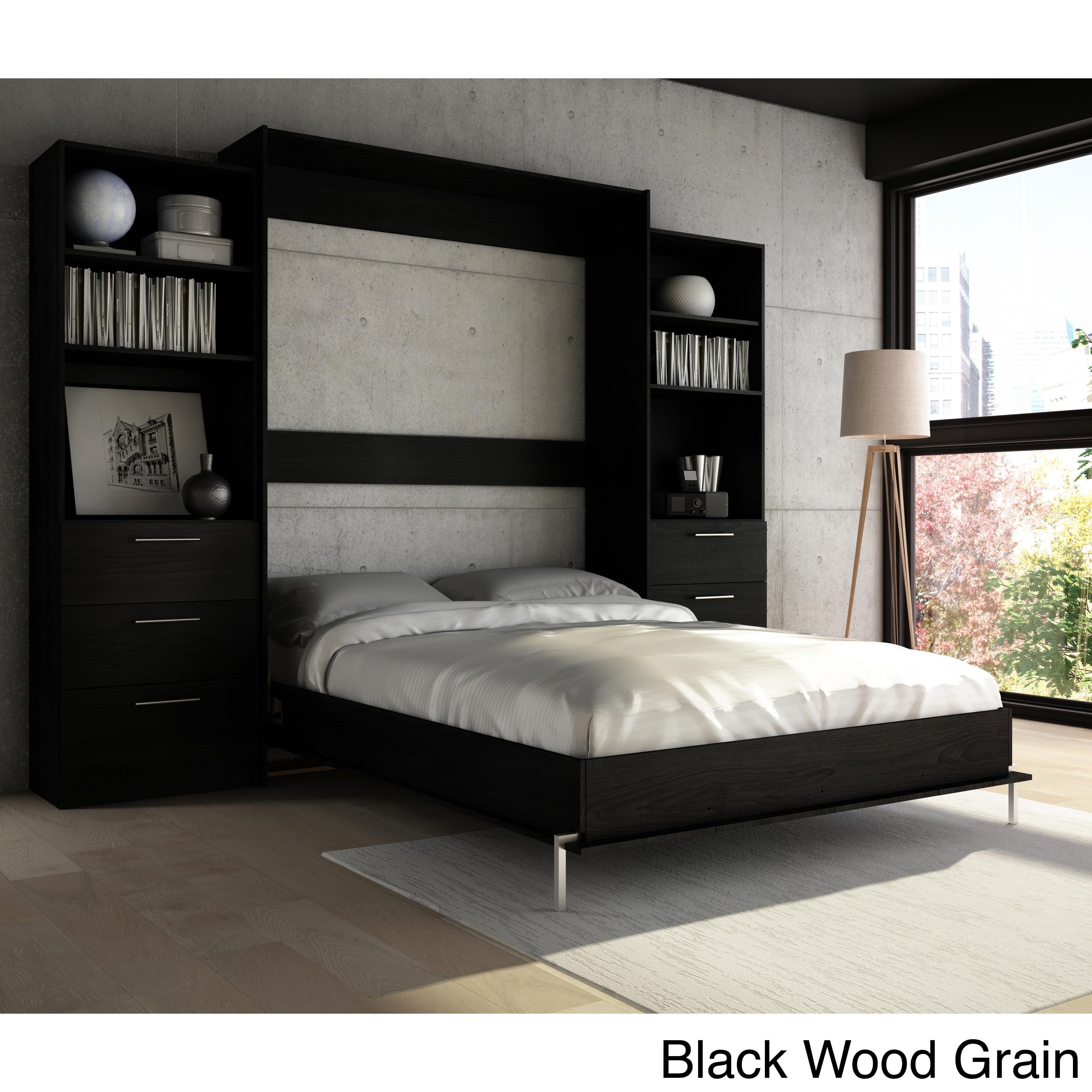 Stellar Home Furniture Queen Wall Bed (Black Wood Grain)