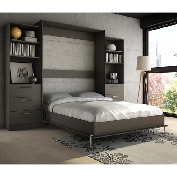 queen murphy bed horizontal diy stellar home furniture wall kit with desk