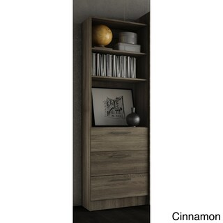 Stellar Home Furniture Storage Unit with Drawers (Option: Rustic Cinnamon)