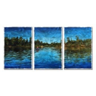 Tracy Frizzell 'Early Morning Paddle' Metal Wall Art