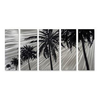 Steve Heriot 'Bare Palms' Grey/Black Metal Wall Art