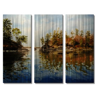 Tracy Frizzell 'Glassy Waters South of Bald Island' Metal Wall Art