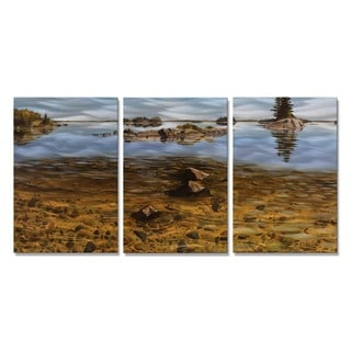 Tracy Frizzell 'East of Bald Island' Metal Wall Art Shallows
