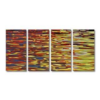 Steve Heriot 'Waves 2' Metal Wall Art
