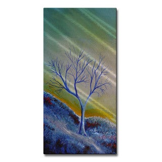 Skye Tayler 'Tree in Blue' Metal Wall Art