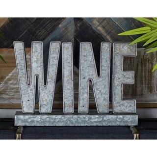 Benzara Enchanting Metal LED Wine Sign