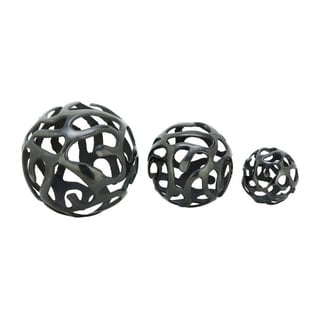 Benzara Elegant Aluminum Decor Balls (Set of 3)