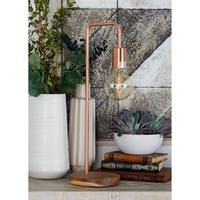 Benzara Chic Copper-finished Iron Metal Table Lamp With Bulb
