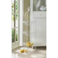 Curling 3-Basket Metal Rack