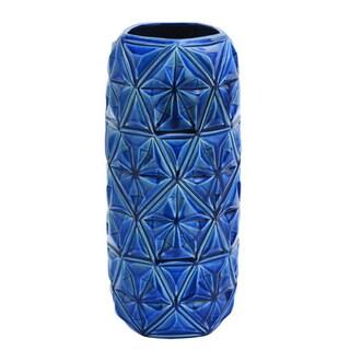 The Curated Nomad Gunnerman Ceramic Blue Vase