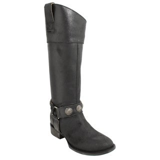 Lane Boots Women's 'Westminster' Black Leather Cowboy Boot
