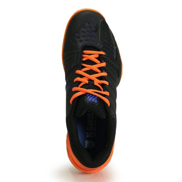 Shop K Swiss Men's Big Shot Light 2.5 Black, Blue and Orange