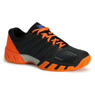 K Swiss Men's Big Shot Light 2.5 Black, Blue and Orange Synthetic Leather Tennis Shoes
