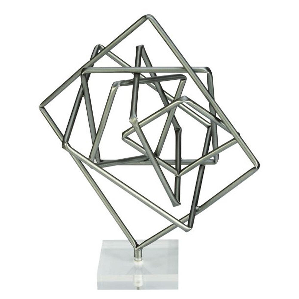 Benzara Unique Metal and Acrylic Geometric Sculpture