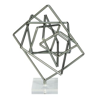 Benzara Unique Metal and Acrylic Geometric Sculpture - Thumbnail 0