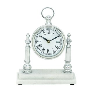 Copper Grove Chatfield Attractive Aluminum Marble Table Clock