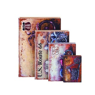 Benzara Royal Multicolor Wood Boxes (Pack of 4)