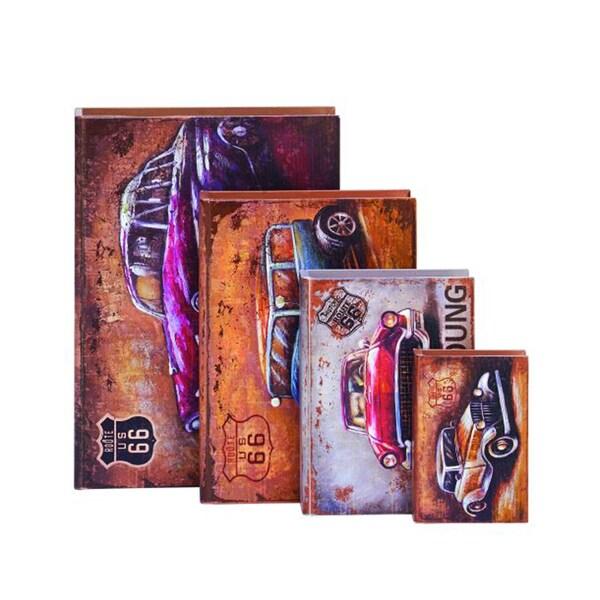 Benzara Wood Box 4-piece Set