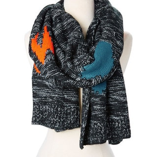 Winter Abstract Design Blanket Fleece Large Holidays Soft and Casual Scarf