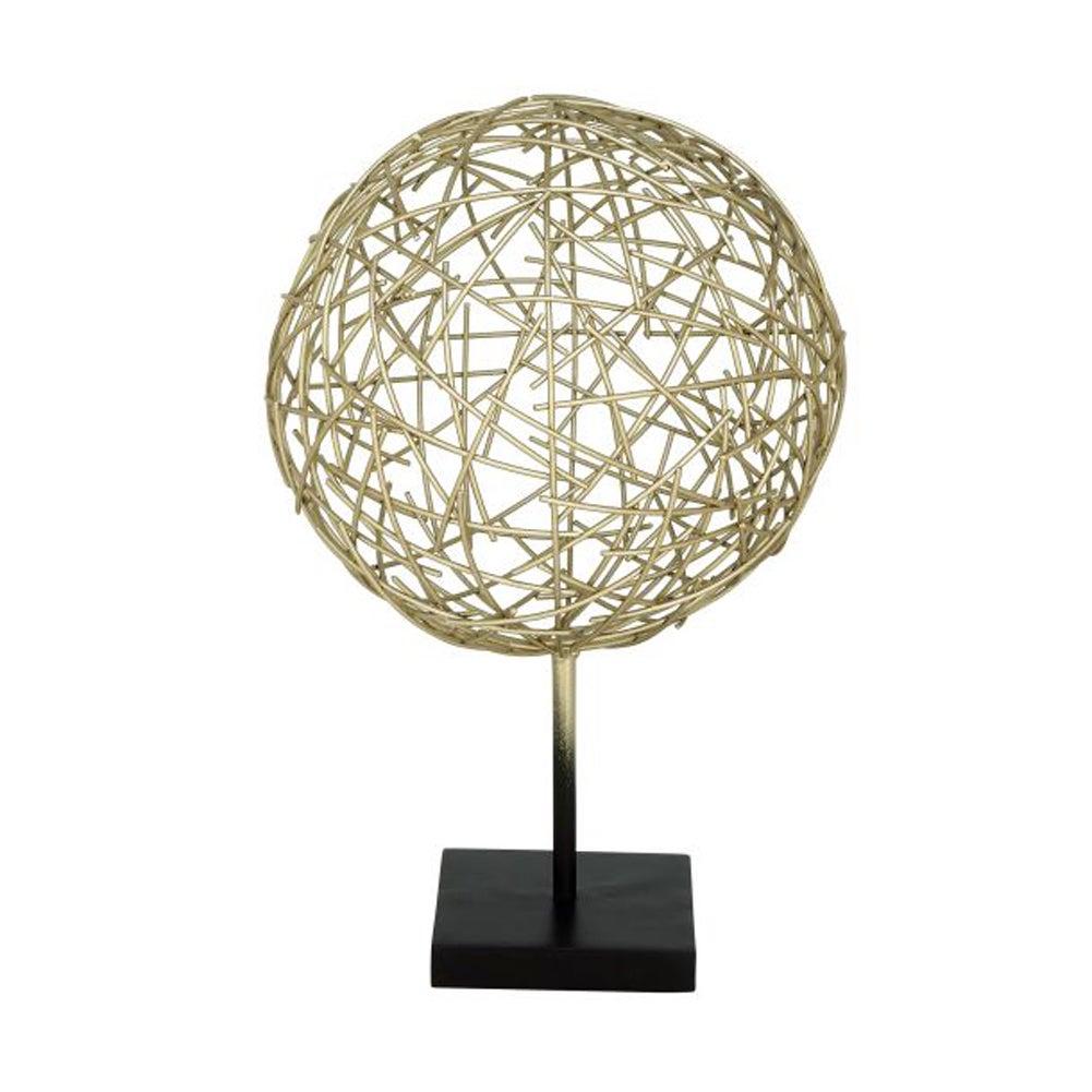Studio 350 Benzara Metal Ball Table Decor (Gold, Black), ...