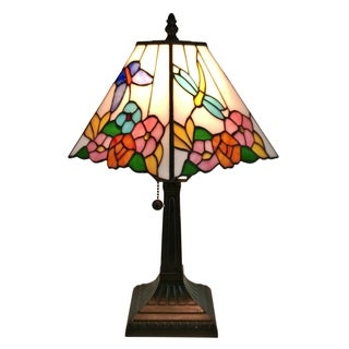 Amora Lighting Tiffany-style Floral Mission-style Table Lamp