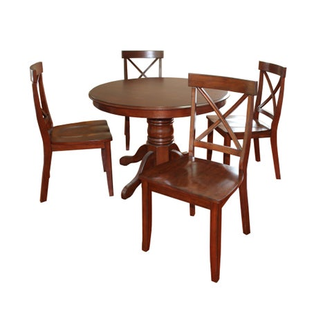 Classic Cherry Finished 5-Piece Dining Set by Home Styles