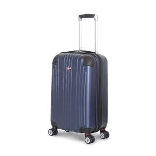 SwissGear Navy Polycarbonate 20-inch Hardside Carry-on Spinner Suitcase