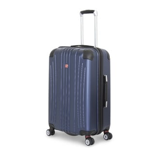 SwissGear Navy Polycarbonate 24-inch Hardside Spinner Suitcase