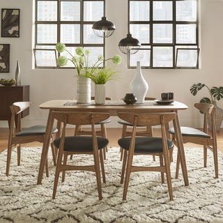 Norwegian Danish Modern Chestnut Tapered Dining Set by iNSPIRE Q Modern
