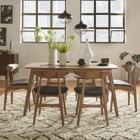 Norwegian Danish Modern Chestnut Tapered Dining Set by iNSPIRE Q Modern