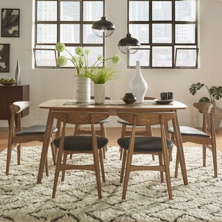 Norwegian Danish Mid-Century Walnut Tapered Dining Set by iNSPIRE Q Modern