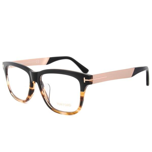 Tom Ford TF5372 005 56mm Black/Tortoise/Taupe Frame Eyeglasses ...