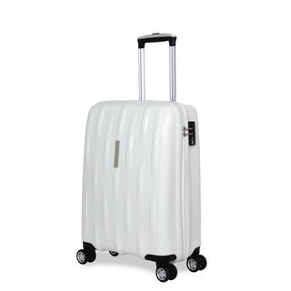 SwissGear White Polypropylene 20-inch Carry-on Hardside Spinner Suitcase
